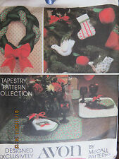 VINTAGE McCALL CRAFTS PATTERN - SEASONS GREETINGS from AVON TAPESTRY COLLECTION