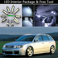 19PCS Error Free LED Interior Lights Package kit Fit 06-2008 Audi A4 B7 Avant J1