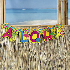 "2ft. ""Aloha"" Jointed Tropical Floral Banner Flower LUAU BEACH POOL PARTY DECOR"