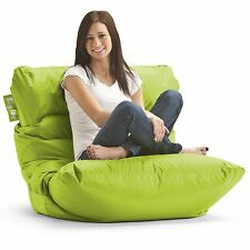 Relax Fuf Green Suede Adult Bean Bag Chair Comfort Research Love Sac Lounge Foam