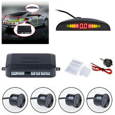 Car Vehicle Parking Rear Reverse 4 Sensors Radar LED Display Alarm System Kit
