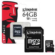 64GB KINGSTON Micro SD SDXC Memory Card Class 10 60MB/s inc SD Card Adapter 64GB