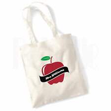 Personalised 'Apple Scroll' Canvas Tote Bag- GIFT FOR THANK YOU TEACHER