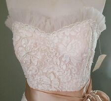 New Womens Maggie Sottero Strapless embelleshed spring summer wedding dress