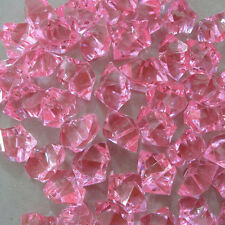 100Pcs Pink Acrylic Ice Rock Vase Gems Table Scatters Party Wedding Decorations