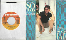 PAUL McCARTNEY * 45 * So Bad * 1983 * USA w/ Picture Sleeve