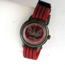 Zadig & Voltaire Rock Forever Canvas Band Red Black Quartz Ladies Watch