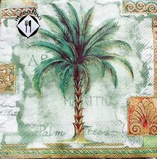 mESAFINA Set of 20 Luncheon Decoupage Paper Napkins - Palm Trees