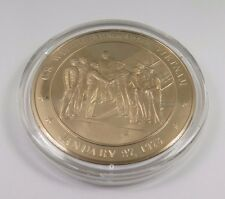 January 27, 1973 U.S. Withdraws From Vietnam Franklin Mint Bronze Coin Medal