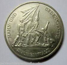DDR Gedenkmünze 10 Mark Stempelglanz von 1972-Mahn und Gedenkstätte Buchenwald