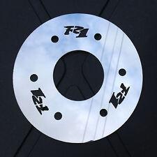 Yamaha R1 4XV Cubierta De Piñón De Acero Inoxidable Pulido Espejo con logotipos de R1