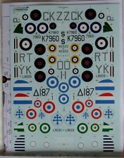 Xtradecal 1/72 X72183 Gloster Gladiator Decal Set