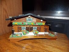 Syroco Music Box with Ballerina Vintage Wood Chalet Plays Blue Danube