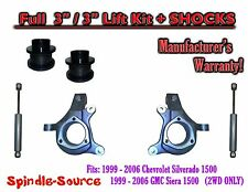 "2000 - 2006 Chevrolet GMC 1500 3"" / 3"" Lift Kit Spindles Spacer SUVs + SHOCKS"