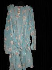 Jenni Jennifer Moore Women's 2X Long Sleeve Robe Tie Bathrobe Hooded Star Blue