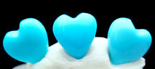 Sleeping Beauty Turquoise Heart Cabochon Carving 100% NATURAL GEMSTONE Jewelry
