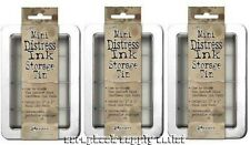 Tim Holtz Mini Distress ink pad storage tins set of 3 Ranger NEW