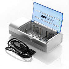 EBL Battery Charger For C D Size AA AAA 9V Ni-MH Ni-CD Rechargeable Batteries