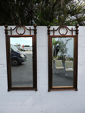 Pair of Hollywood Regency Mid-Century Wall Mirrors 7679
