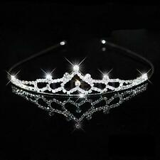 Wedding Party Bridal Bridesmaid Flower Girl Crystal Heart Crown Headband Tiara
