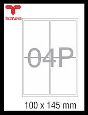 NovaJet Multipurpose Label 04P - 100x145 WR for Inkjet / Laser printer A4 Sheet