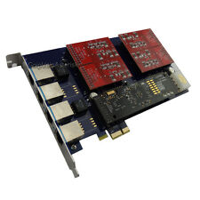 AEX410 4FXO Asterisk system card PCIe card with Hardware echo cancellation