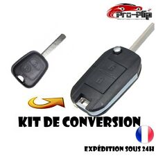 KIT DE TRANSFORMATION CLE PLIP Peugeot 107 207 307 2 boutons conversion TELECOMM