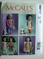"""McCall's Pattern 6717 Clothes for 18"""" Dolls fits 18 inch dolls toys sleepwear"""
