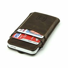 Apple iPhone SE Wallet Sleeve Vintage Leather Card Case ID Holder Slots Slim New