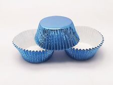 48 Sky Blue Foil Standard Size Cupcake Liners Baking Cups Light Blue