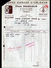 """ORLEANS (45) GARAGE CONCESSIONNAIRE BERLET """"Pierre BOURGOUIN"""" en 1961"""