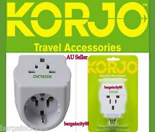 KORJO Worldwide Multi Reverse Plug Adaptor EU/USA/UK/JP/Asia to AUSTRALIA AU/NZ