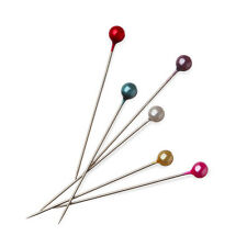 200X Coloured Plastic Round Pearl Head Pins Value Pack Dressmaker Tailor Craft