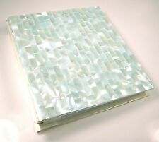 NEW!Genuine Mother of Pearl Powder Blue 4X6 Photo Album