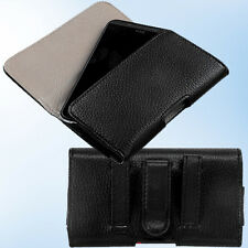 For Motorola Moto E G X XT897 MB810 Textured Horizontal Pouch Case Belt LoopClip