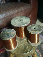 GERMAN Antique Copper Thread Spool.Metallic Flat Thread.Lackdraht (Paint wire).