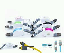 4x Usb schnell Ladekabel Datenkabel 2in1 lightning + micro Usb Turboladung TOP