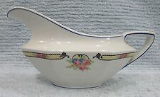 Old Johnson Bros England 4x8 porcelain gravy boat pitcher pink Roses FREE S/H