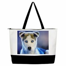 Husky Dog Puppy Bag Handbag Purse Tote Shopper j1094