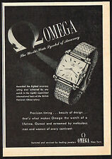1940's Vintage 1945 Omega Watch Co. - Paper Print AD