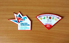 2 Badges: 23rd World Scout Jamboree 2015 (Japan) - UK & East Midlands IST/JPT
