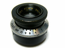 "Dallmeyer London F/1.9 1"" (25mm) brass Lens C Mount cine movie camera vintage"