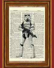 Storm Trooper Star Wars Dictionary Art Print Book Picture Poster Stormtrooper