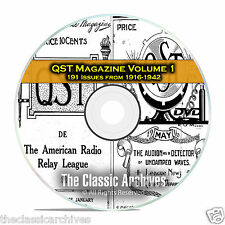 QST Magazine, Volume 1, 191 Vintage Old Time Ham Radio Issues DVD CD C05