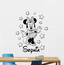 Personalized Minnie Mouse Wall Decal Custom Girl Vinyl Sticker Art Mural 101crt