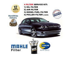 FOR JAGUAR X TYPE 2.0TD 2.2TD 2003-- ON SERVICE KIT OIL AIR FUEL POLLEN 4 FILTER