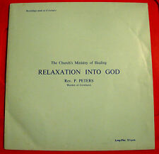 "Rev.Paul Peters Relaxation..God 10""LP PRIVATE Xian/Divine Healing Mission/Spoken"