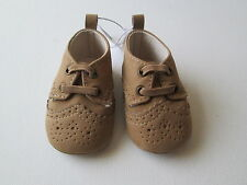 Old Navy Baby Boy's Oxford Crib Shoes Sueded Faux Suede NEW 0-3 months NWT