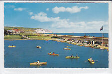 POSTCARD SANDOWN BOATING LAKE, ISLE OF WIGHT. BROWNS AND THE GRAND HOTEL