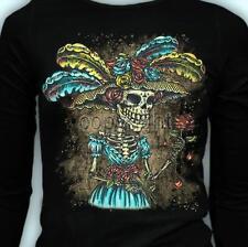 LS Frida La Catrina Day Of the Dead Dia De Los Muertos T-Shirt S-3XL